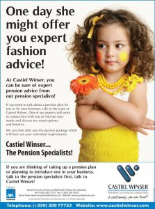 Financial services advertisement for Castle Winser