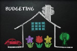 budgeting household chalk drawing